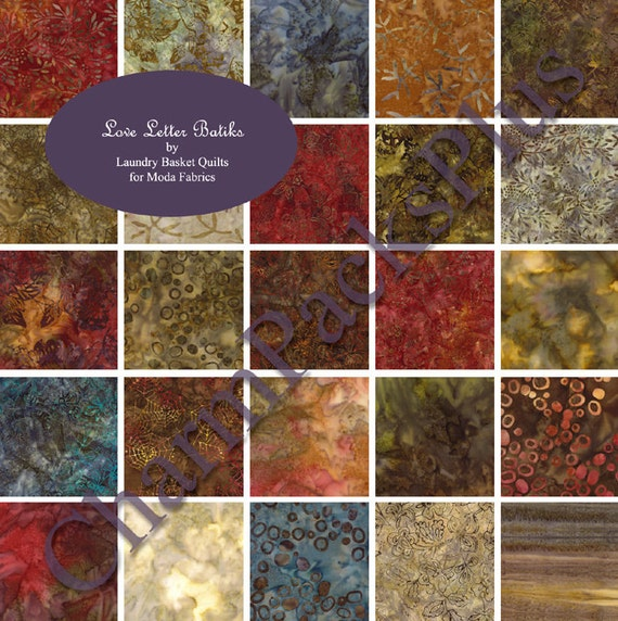 love letter batiks moda charm pack by laundry basket quilts