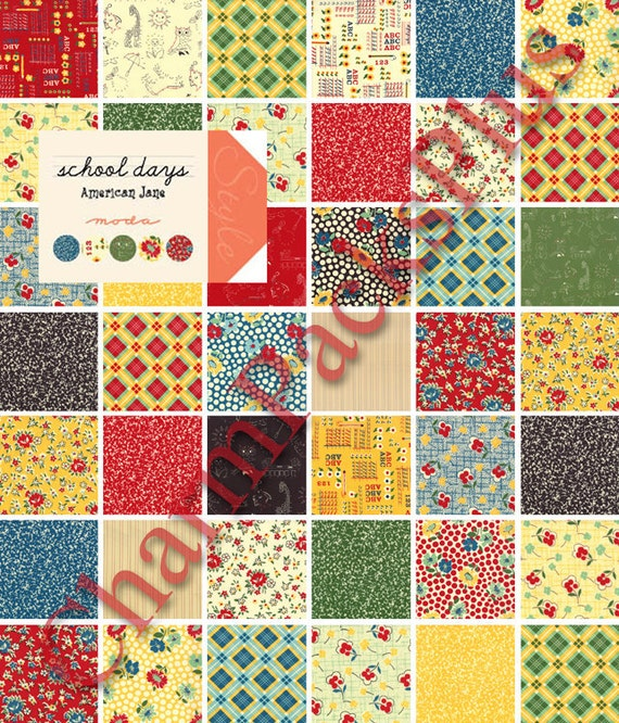 school days moda fabric charm pack five inch quilt by