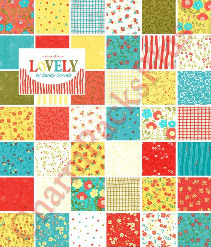 Lovely Moda Charm Pack Quilt Fabric Squares