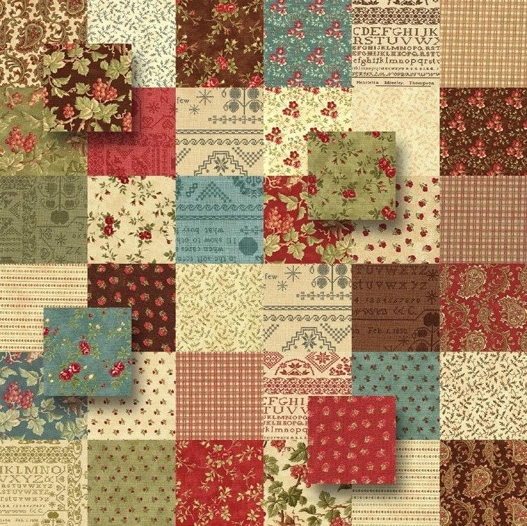 Moda Madeira Quilt Fabric Squares Charm Pack Kit