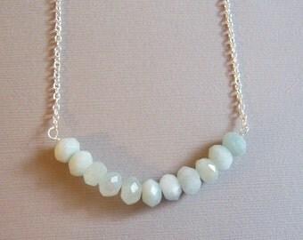 Faceted Aquamarine Necklace