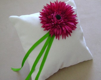 Le Fleur Fuschia Ring Bearer Pillow