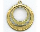 Earring charm, filigree pendant, brass filigree, brass pendant