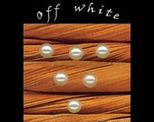 3mm off white pearl Cabochons, 50 acrylic pearl cabochons, czech cabochons