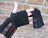 Custom Order - Fingerless Gloves eco-friendly felt wool - hand warmers - driving gloves