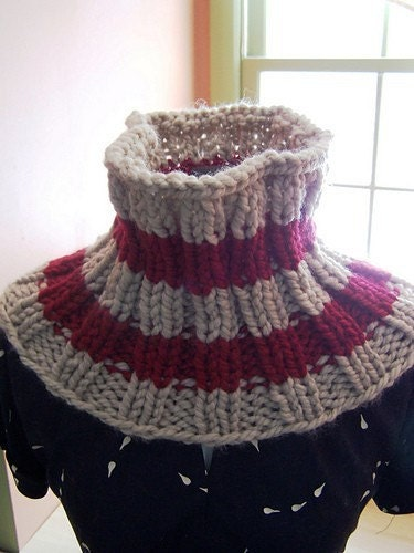 Pattern Super Bulky Ribbed Neck Warmer