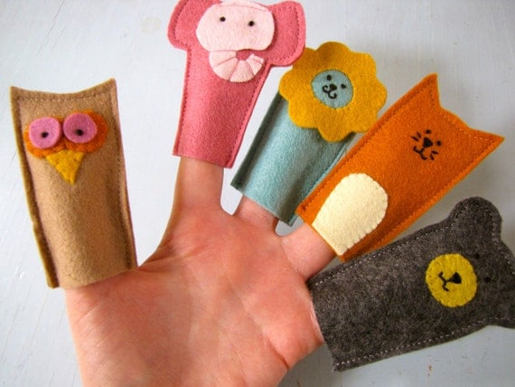 Les Animaux Finger Puppets