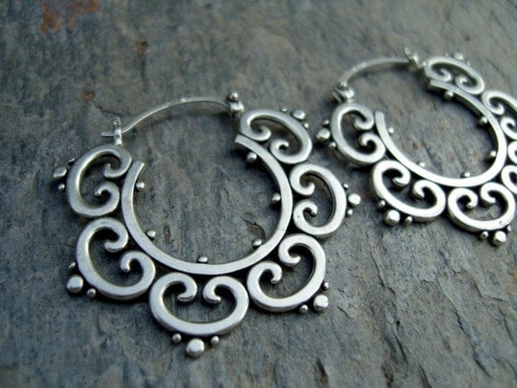 Ornate Tribal Hoops