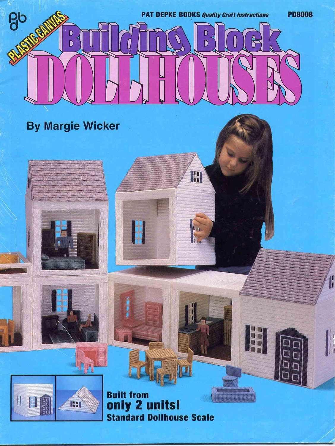Building Block Dollhouses In Plastic Canvas Including By