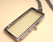 Memento Locket Necklace (rectangle)