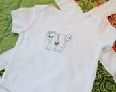 Hand Embroidery Bodysuit Onesie Spork Family Long Sleeve