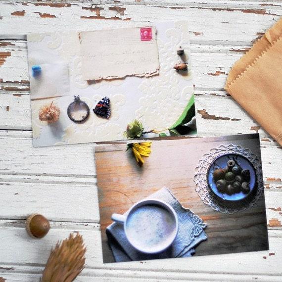 Gathering Autumn postcard set