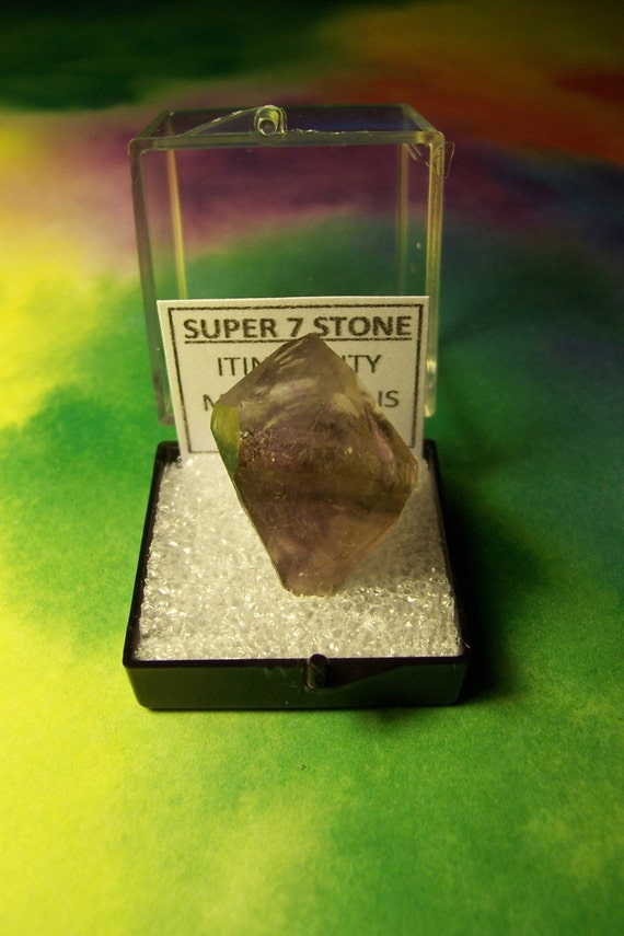SALE SUPER 7 STONE NATURAL QUARTZ CRYSTAL IN SPECIMEN BOX FROM BRAZIL RARE METAPHYSICAL SALE RARE COLLECTIBLE
