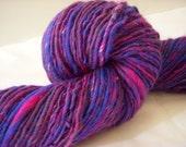 Elektra  - Corriedale Hand Spun Hand Painted Yarn - 145 Yards