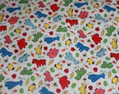 Colorful Animals Vintage Fabric