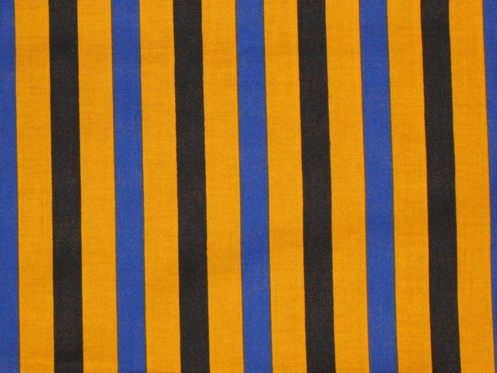 orange black and blue striped fabric destash. Black Bedroom Furniture Sets. Home Design Ideas