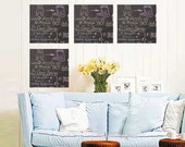 ShaNickers Wall Decal/Sticker -Chalkies-Squares-FREE SHIPPING
