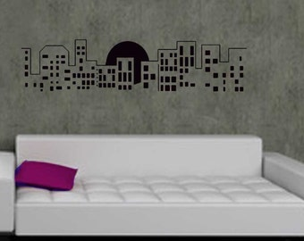 ShaNickers Wall Decal/Sticker-Cityscape 2-FREE SHIPPING