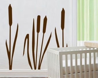 ShaNickers Wall Decal/Sticker-Cattails- FREE SHIPPING