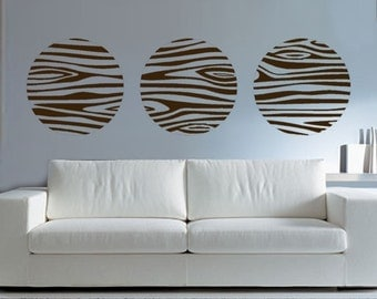 ShaNickers Wall Decal/Sticker- Wood Circles-FREE SHIPPING