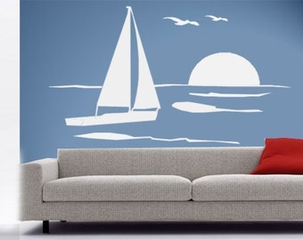 ShaNickers Wall Decal/Sticker-Into the Sunset-FREE SHIPPING