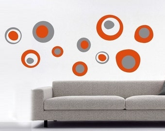 ShaNickers Wall Decal, Circles and Rings, FREE SHIPPING