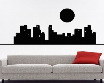 ShaNickers Urban Wall Decal,  CityScape, Free Shipping