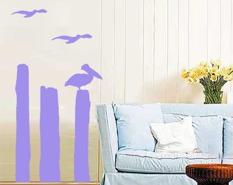 ShaNickers Wall Decal/Sticker-At the Pier-FREE SHIPPING