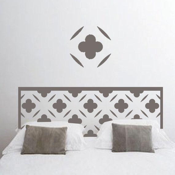 ShaNickers Wall Decal/Sticker-Carved Headboard King-FREE SHIPPING
