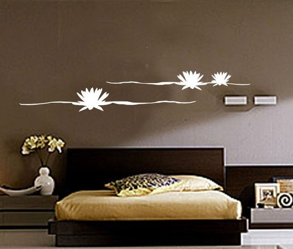 ShaNickers Wall Decal- Floating Lotus-Free Shipping