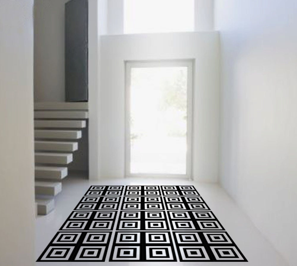 Shanickers Squares Rug Floor Decal