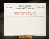 Telegram blank, letterpress printed correspondence cards (set of 10)