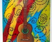 Guitar Dream - 16x20 - original painting