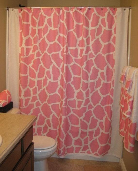 Items similar to Safari Stall Shower Curtain Giraffe