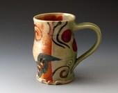 Ceramic Mug - Celadon and Shino - Handmade Pottery Cup