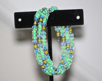 Green/Blue Rocaille Bracelet