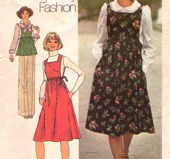 Vintage 70s sewing pattern peter pan collar blouse and for Peter pan shirt pattern