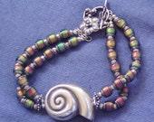 Fine silver Nautilus Colour Changing Bracelet