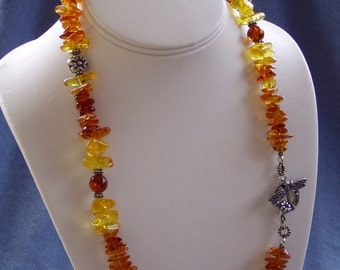 Baltic Amber DragonFly Necklace
