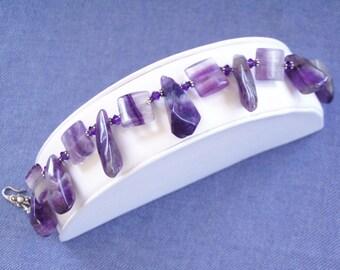Amethyst  Moonshadow  Bracelet