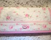 Shabby Roses Checkbook Cover