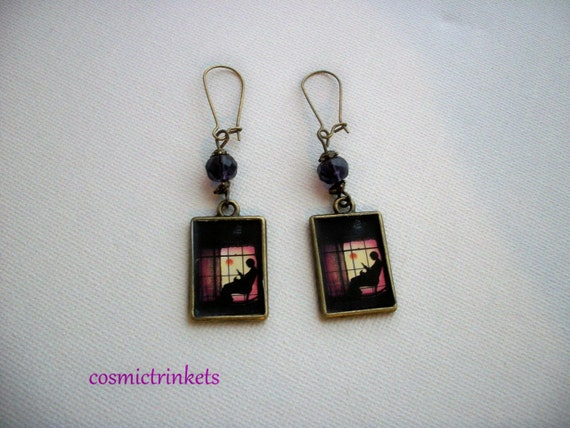 The Colour Purple Alice Walker Book Covers Picture Earrings