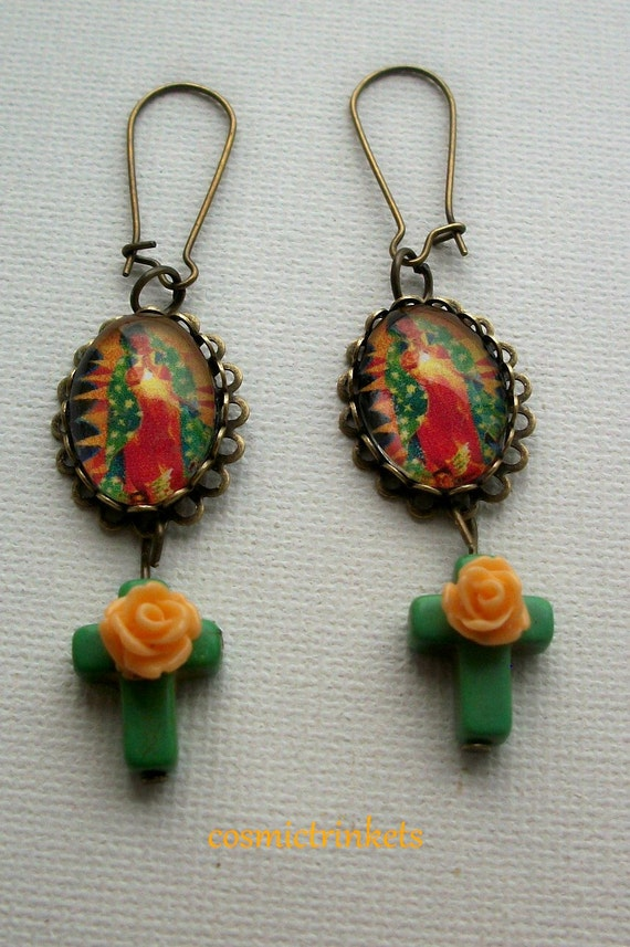 Virgin of Guadeloupe Earrings