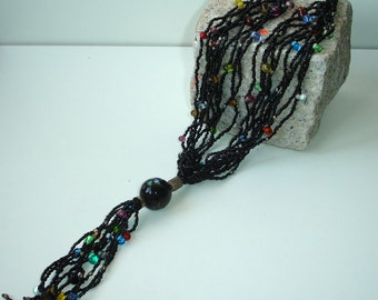 Black seed and glass beads