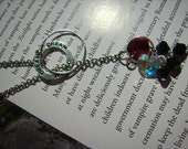 Twilight inspired bella and edward Necklace