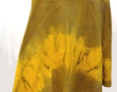 Tie Dye Cotton Skirt, Fall Fashion, A-line, Hand-dyed Japanese Shibori Design, Multicolored, Wide Elastic Waistband