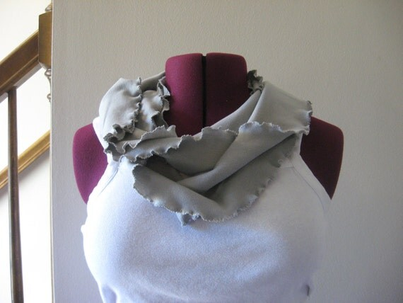 Skinny Infinity scarf Grey, Fall Fashion