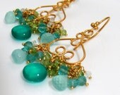 AQUA GEMSTONE EARRINGS - SPRING 2010 COLLECTION