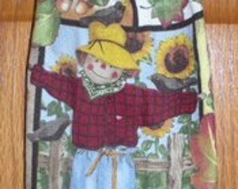 Scarecrow in the Field Crochet Top Hanging Kitchen or Bath Towel