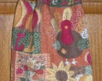 Turkey Time Crochet Top Hanging Kitchen or Bath Towel